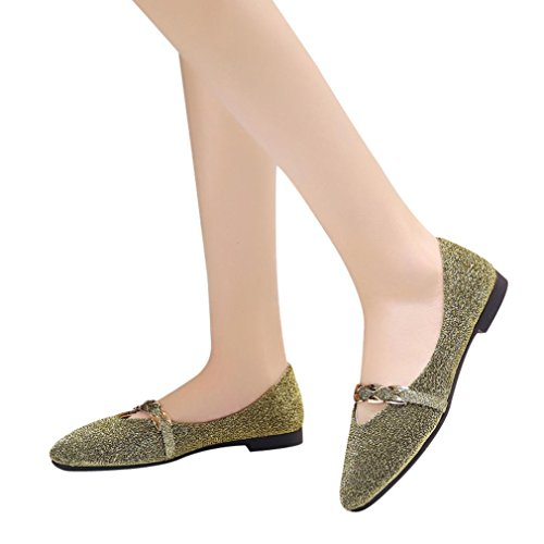 Boda 2018 Vestir De Moda Dorado Merceditas Fiesta Femenino Con Otoño Mujer Lentejuelas Calzado Casual Cómodos Para Paolian Zapatos Plano Dama Punta CXOwq5d5