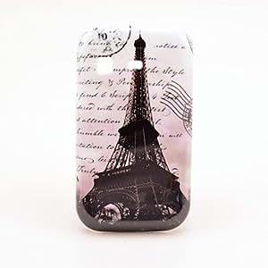 CL - Famosa Torre Eiffel con las Cartas Caja de protección de plástico para Samsung Galaxy Pocket / S5300
