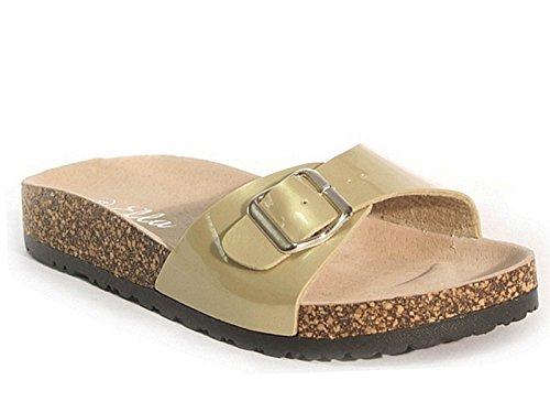 SFO - Sandalias de vestir de Material Sintético para mujer dorado
