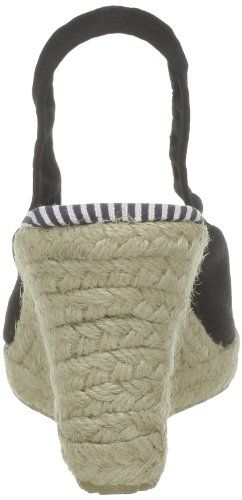US Polo Assn - Sandalias de tela para mujer Negro (Noir (Blk))