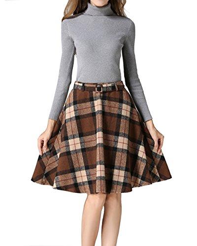 Vintage Wool Plaid Skirt - 8