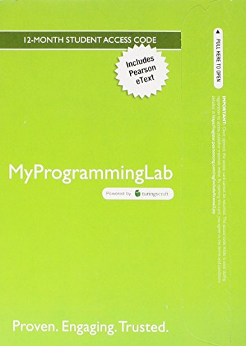 MyProgrammingLab with Pearson eText -- Access Card -- for Problem Solving with C++ (5th Edition)
