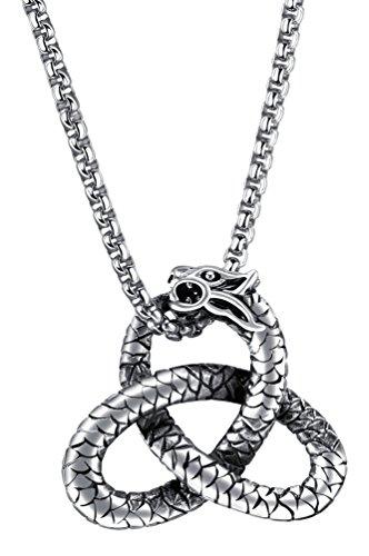 Fusamk Hip Hop Titanium Steel Rattlesnake Pendant 22