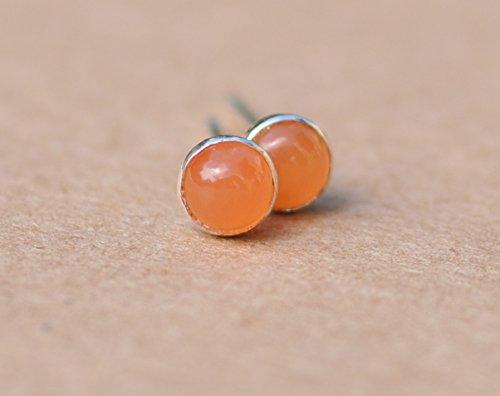 - Peach Moonstone Earrings