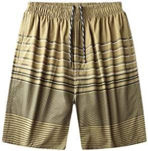 LF- 夏のメンズショートパンツコットンルーズ大きいサイズのメンズカジュアル五点パンツメンズショートパンツを着用してください 快適な (Color : Khaki, Size : XL)