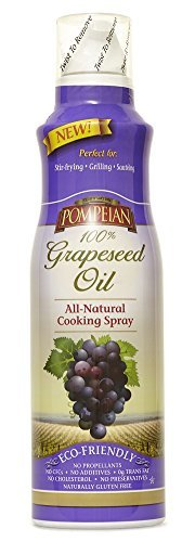 Pompeian 100% Grapeseed Oil Spray All Natural 2 Pak 5 Ounce Slim Cans
