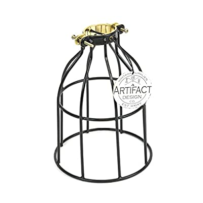 Pendant Lighting Lamp Shade by Rustic State - With Industrial Style Curved Cage for Authentic Vintage Lamps , Oil Robbed Finish