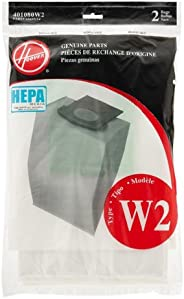 Hoover Media Filtration: Traps 99.97 Percent of dust and pollens Down to 3 microns 2PK WT2 Repl Hepa Bag