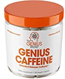 Best Energy Pills For Men - Genius Caffeine - Extended Release Microencapsulated Caffeine, All-Natural Review
