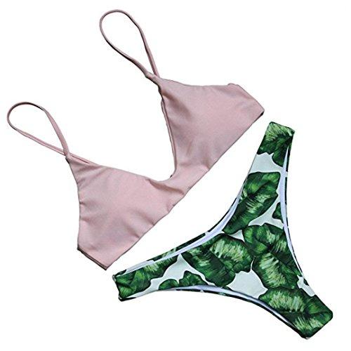 Rawdah 2017 nueva tendencia Mujeres atractivas bandage encaje relleno Bra Beach halter bikini conjunto traje de baño