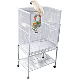 A&E CAGE CO 32-Inch by 21-Inch Flight Cage and Stand