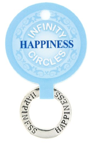 1 Silver Plated Charm (Infinity Circle Silver Plated Charm, Happiness, One Size)