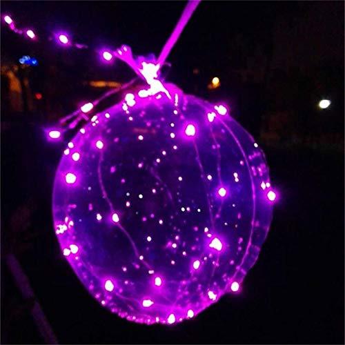Balai LED Light Up Transparent BoBo Balloon Colorful