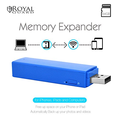 Royal Guard WiFi Memory Expander V1 with 64GB SD Card, Blue