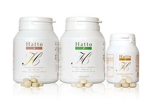 Hatto(ハット)‐α,β,γ 1ヶ月セット:育毛サプリメント 飲む育毛剤 B005PF24WM