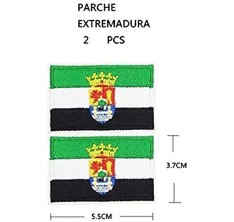 BANDERA DEL PARCHE BORDADO PARA PLANCHAR O COSER (EXTREMADURA) (EXTREMADURA-2): Amazon.es: Hogar