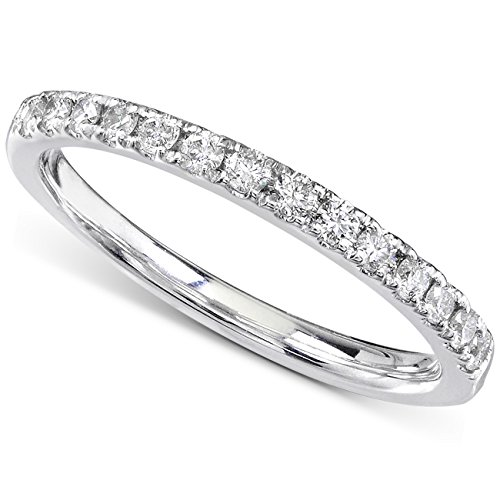 Round Diamond Wedding Band 1/3