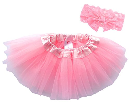 Dress Up Outfit (Dancina Tutu Headband Set Girls Newborn Birthday Fairy Princess Dress Up Outfit 6-24 months)