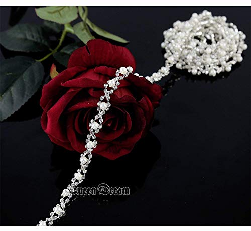 (Wedding appliques rhinestone applique Bodice Bling Bling pearl rhinestone applique pearl bridal sash bridal dress applique)