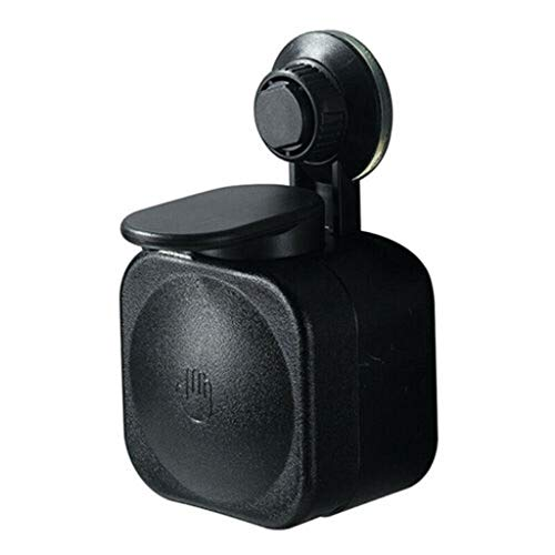 Wllsagl Xouwvpm Suction Cup Soap Dispenser Wall Mounted Abs Waterproof Soap Box For Bathroom Shampoo Bath Lotion Extruder Sucker (Black)