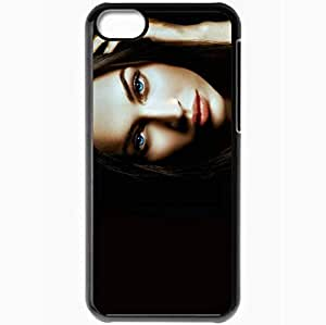 Personalized iPhone 5C Cell phone Case/Cover Skin Amazing Babe Megan F Aprilwednesday Versionone Armaniphotoshoot Black