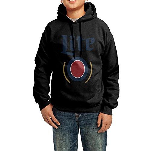 boys-girls-miller-lite-fleece-hoodie-sweatshirt-l