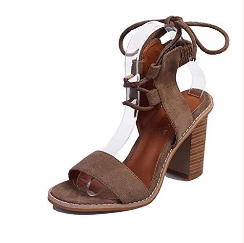 Open Shoes Alto Ultimi Donna 37 Marrone Nero colore Cross Tacco Scarpe 35 Con Gli Sandali Dimensione Zeppa Belt Toe Infradito Fuxitoggo Da Marrone WTnYv7xqF6