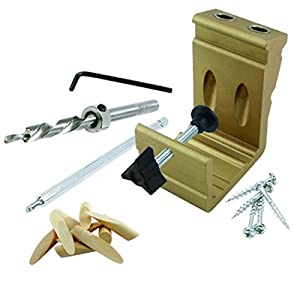 General Tools 850, EZ Pro Deluxe Pocket Hole Jig Kit (Pack of 6 pcs)