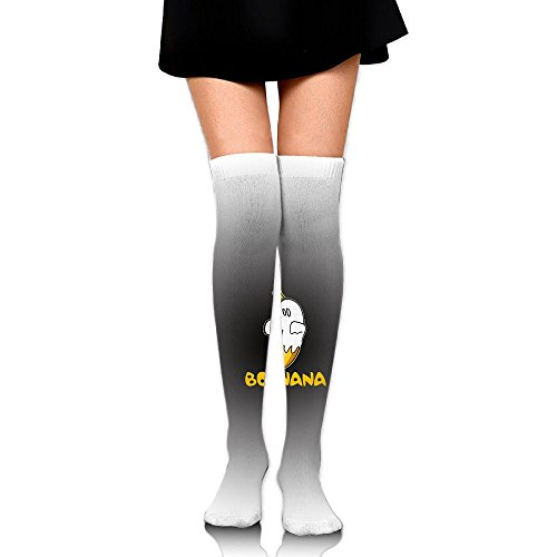 JINYOUR Boonana Ghost In Black Circle Women's 60cm Knee High Socks Thigh High Stockings (Boonana Halloween)