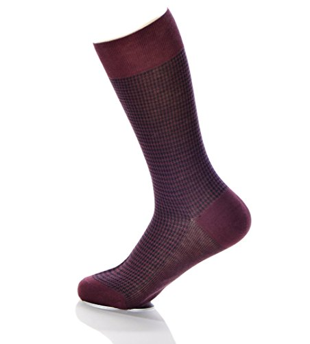 brioni-mens-cotton-houndstooth-knit-pattern-mid-calf-dress-socks-wine