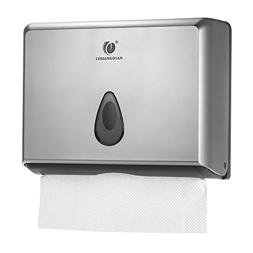 BBX Lephsnt CHUANGDIAN Wall-mounted Bathroom Paper Towel Dispenser (Silver) by BBX Lephsnt