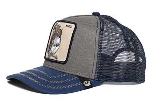 Goorin Bros.. 'Squirrel Master' Squirrel Snapback Trucker Baseball Hat Blue (Masters Hat Trucker)