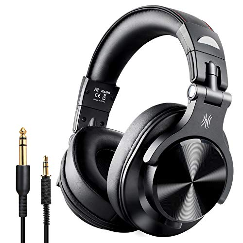 OneOdio Fusion Bluetooth Over Ear Headphones, Studio DJ Headphones with Share-Port, Wired and Wireless Professional Monitor Recording Headphones with Stereo Sound for Electric Drum Piano Guitar AMP ()