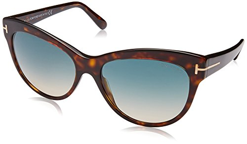 Tom Ford 430 52P Tortoise Lily Cats Eyes Sunglasses Lens Category 2 Size - Eyes Sunglasses Cat Ford Tom