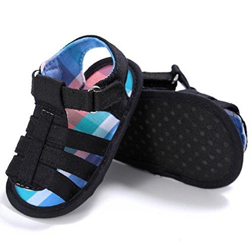 Zapatos de bebé, Switchali verano BebéInfantil chicosCuna SuaveNiñitoRecién nacido Sandalias Niño blancos Zapatos bebe Niña primeros pasos Negro