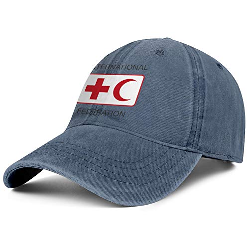 International Federation of Red Cross and Red Crescent Societies Jeans Baseball Caps Fashion Hat Dad Mens Snapbacks (Federation Of Red Cross And Red Crescent Societies)