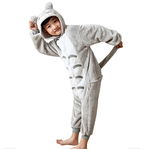 WSLCN Childrens Boys Girls Animal Onesie Unisex Cosplay Flannels Hooded Kids Sleepsuit Party Halloween Sleepwear Nightwear