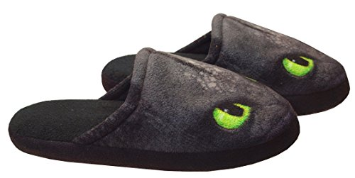 36 Noir Enfants Krokmou Chaussons 31 Dragons Dreamworks toothless wS7ZvqvY