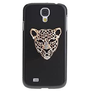 Zaki-ships in 48 hours Iron Leopard Pattern Plastic Black Hard Back Case for Samsung Galaxy S4 i9500 , Silver