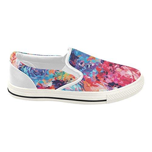 Slip Floral Interestprint Sur Des Chaussures En Toile Pour Les Femmes Floral