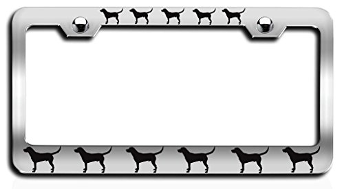 Makoroni - LABRADOR RETRIEVER Dogs Pets Ch Steel License Plate Frame, License Tag - Labrador Decorative Accessories Retriever