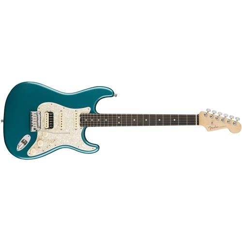 Fender American Elite Stratocaster HSS Shawbucker Electric Guitar with Ebony Fingerboard Ocean Turquoise Fender Ocean Guitar