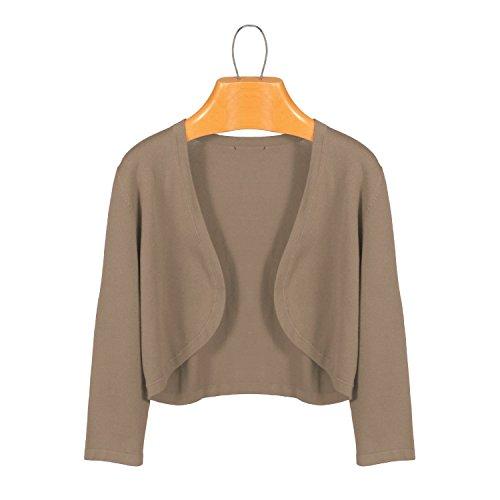 Simply Noelle 3/4 Length Sleeve Scoop Shrug in Khaki LXL