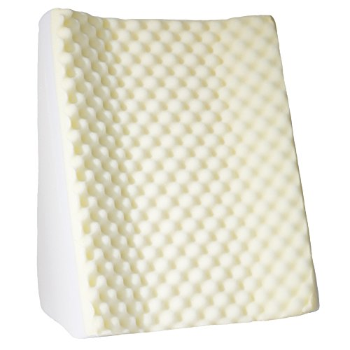 Bluestone Dual Position Wedge with White Terry Cloth Zippered - Bluestone Fabric
