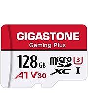 Gigastone 128GB Micro SD Card, Gaming Plus, Nintendo-Switch Compatible, High Speed 100MB/s, 4K UHD Video Recording, Micro SDXC UHS-I A1 V30 U1 Class 10