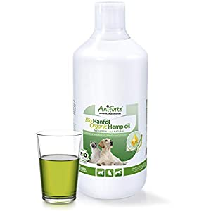 AniForte Organic Hemp Oil for Dogs & Cats 1L &...