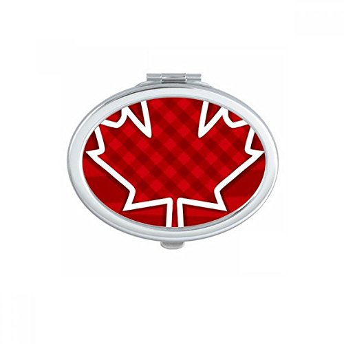 Happy Canada Day 4th Of July Square Maple Leaf Oval Compact Makeup Pocket Mirror Portable Cute Small Hand Mirrors Gift ()