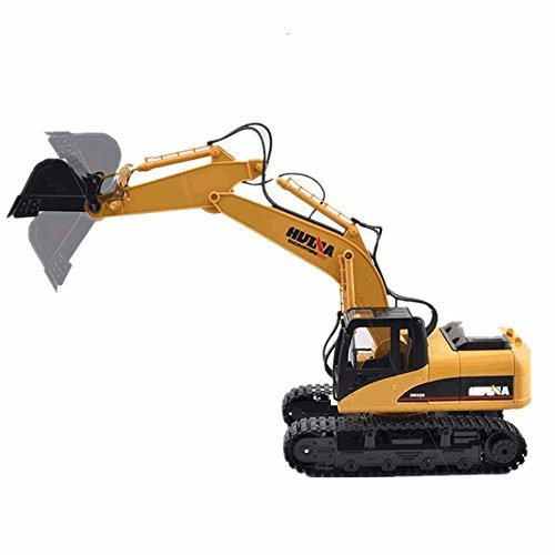 MyZenStore HuiNa Toys1550 15Channel 2.4G 1/12RC Metal Excavator Charging RC Car by MyZenStore