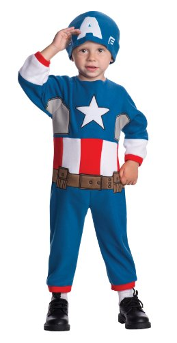Rubie's Costume Baby's Marvel Classics Avengers Assemble Captain America Costume, Multi, Toddler