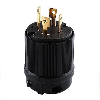41QkSTCW1VL._SL500_AC_SS350_ leviton 2711 30 amp, 125 250 volt, nema l14 30p, 3p, 4w, locking 14- 50P Cord at gsmportal.co